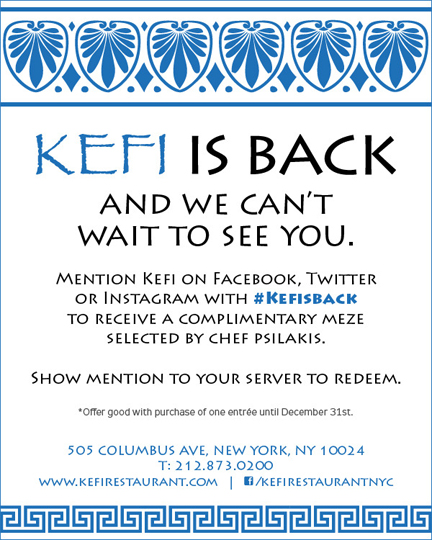 kefi restaurant new york